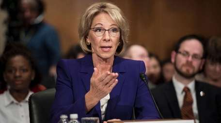 Education secretary nominee, Betsy DeVos, appeared before the
