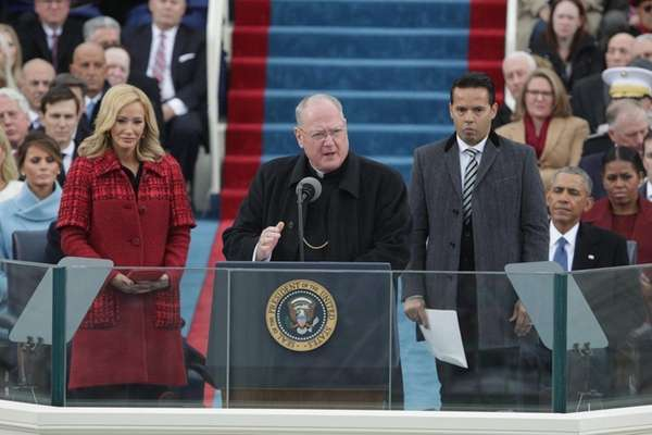 Cardinal Timothy Dolan, of New York, delivers remarks