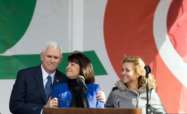 Vice President Mike Pence, Karen Pence and daughter