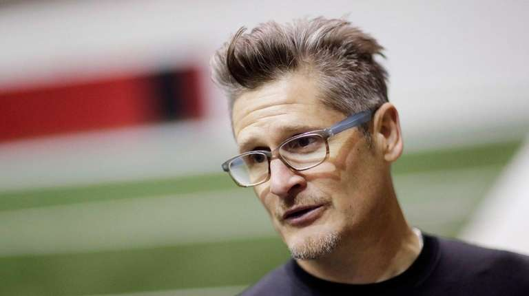 Atlanta Falcons general manager Thomas Dimitroff answers questions