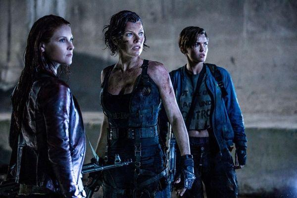 Ali Larter, left, Milla Jovovich and Ruby Rose