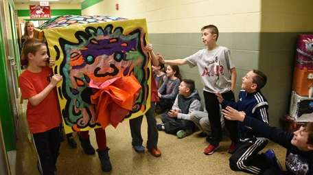 Third-graders at Norman J. Levy Lakeside School in