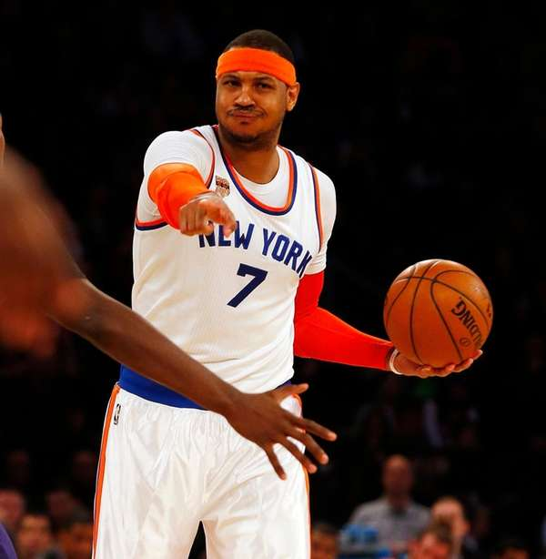 Carmelo Anthony said before a victory over the