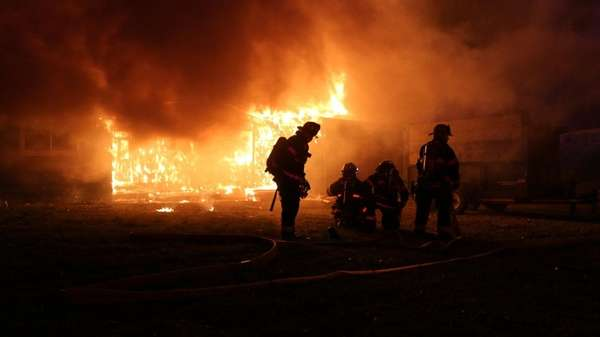 Firefighters respondto a house fire early Saturday, Jan.