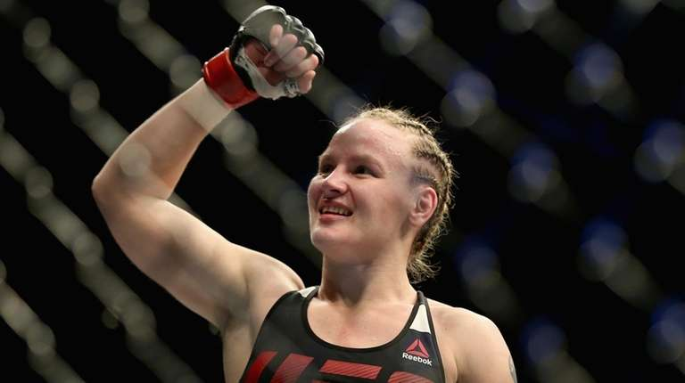 DENVER, CO - JANUARY 28: Valentina Shevchenko of