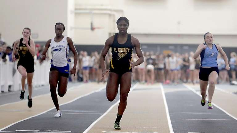 St. Anthony's Halle Hazzard finishes first in her