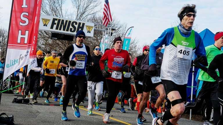 Hundreds of runners participated in the Presidential Inauguration