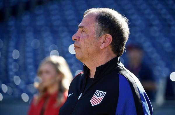 United States head coach Bruce Arena looks on