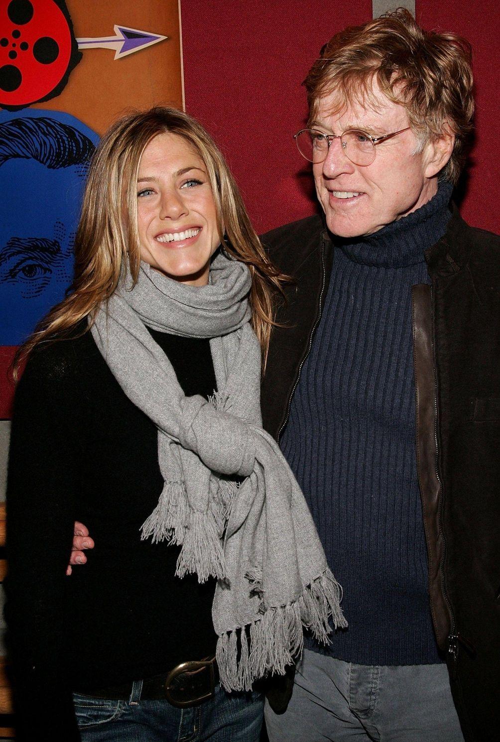 Jennifer Aniston and Sundance Institute president actor Robert