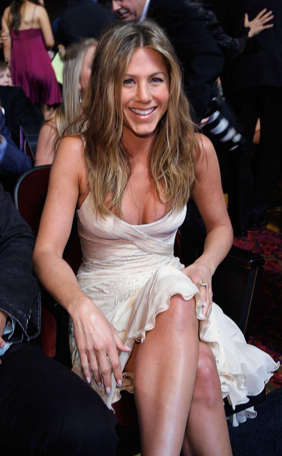 Jennifer Aniston poses in the audience during the