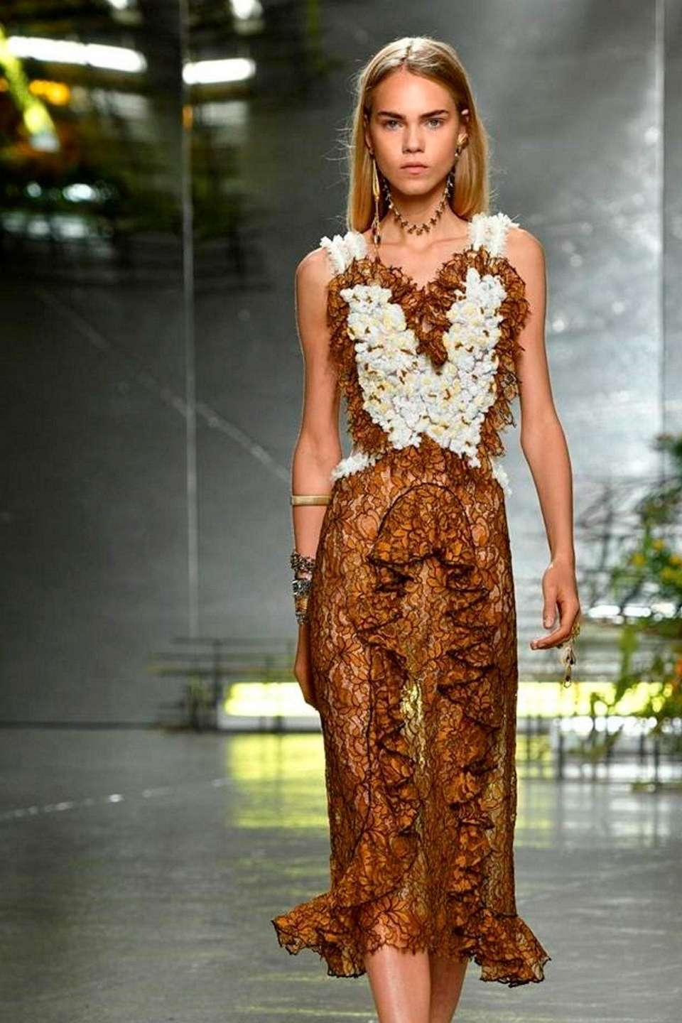 Rodarte envisions a romantic spring, with this amber