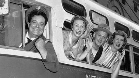 From left, Jackie Gleason, Audrey Meadows, Art Carney