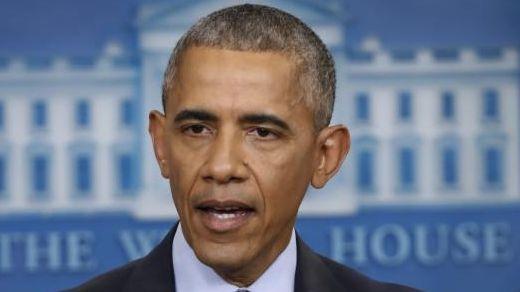 President Barack Obama speaks during his final presidential
