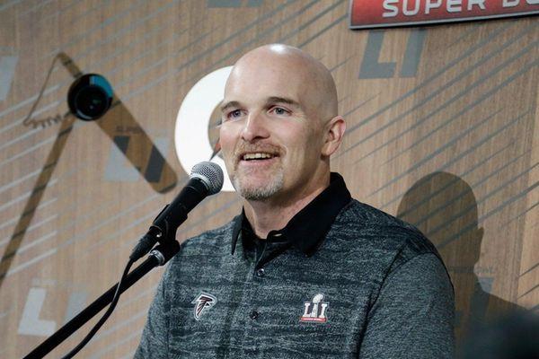 Head coach Dan Quinn of the Atlanta Falcons