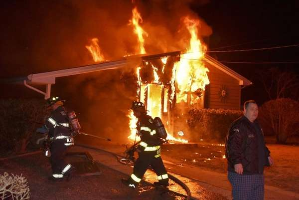 Selden firefighters respond to a house fire early