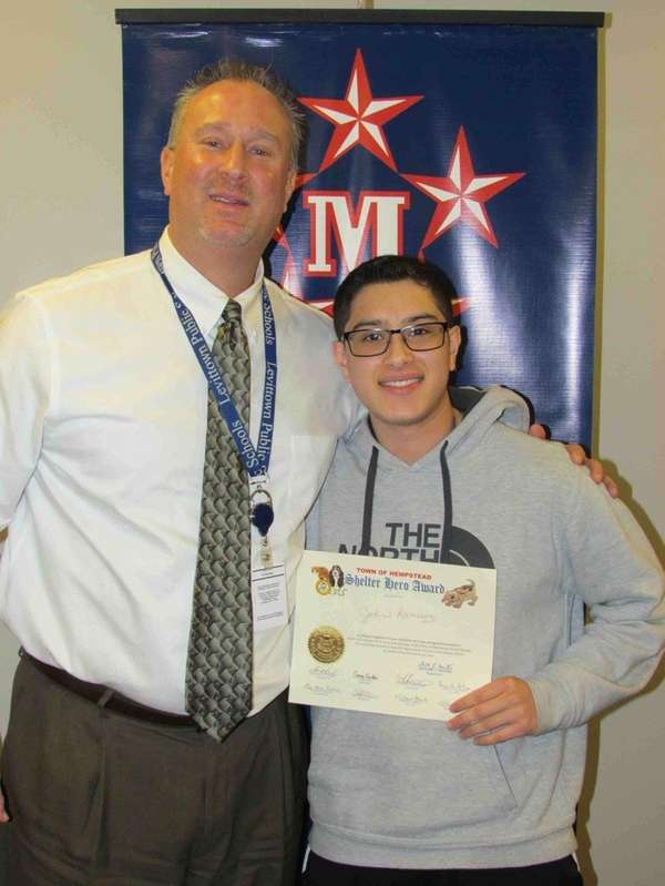 John Ramirez with Joseph Sheehan, MacArthur High School