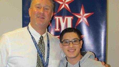 John Ramirez with Joseph Sheehan, MacArthur High School