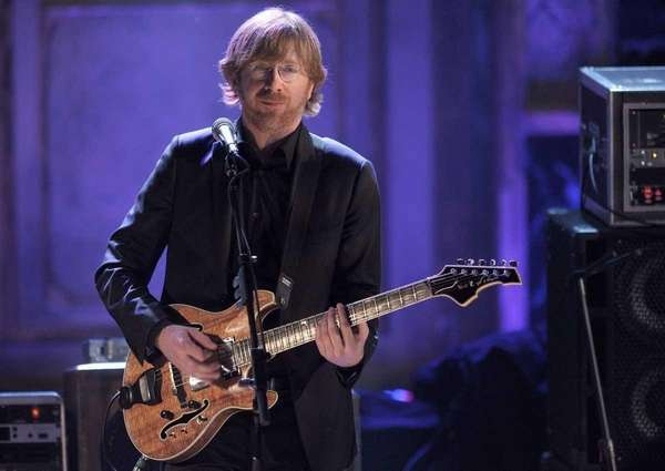 Trey Anastasio of Phish performs on stage at