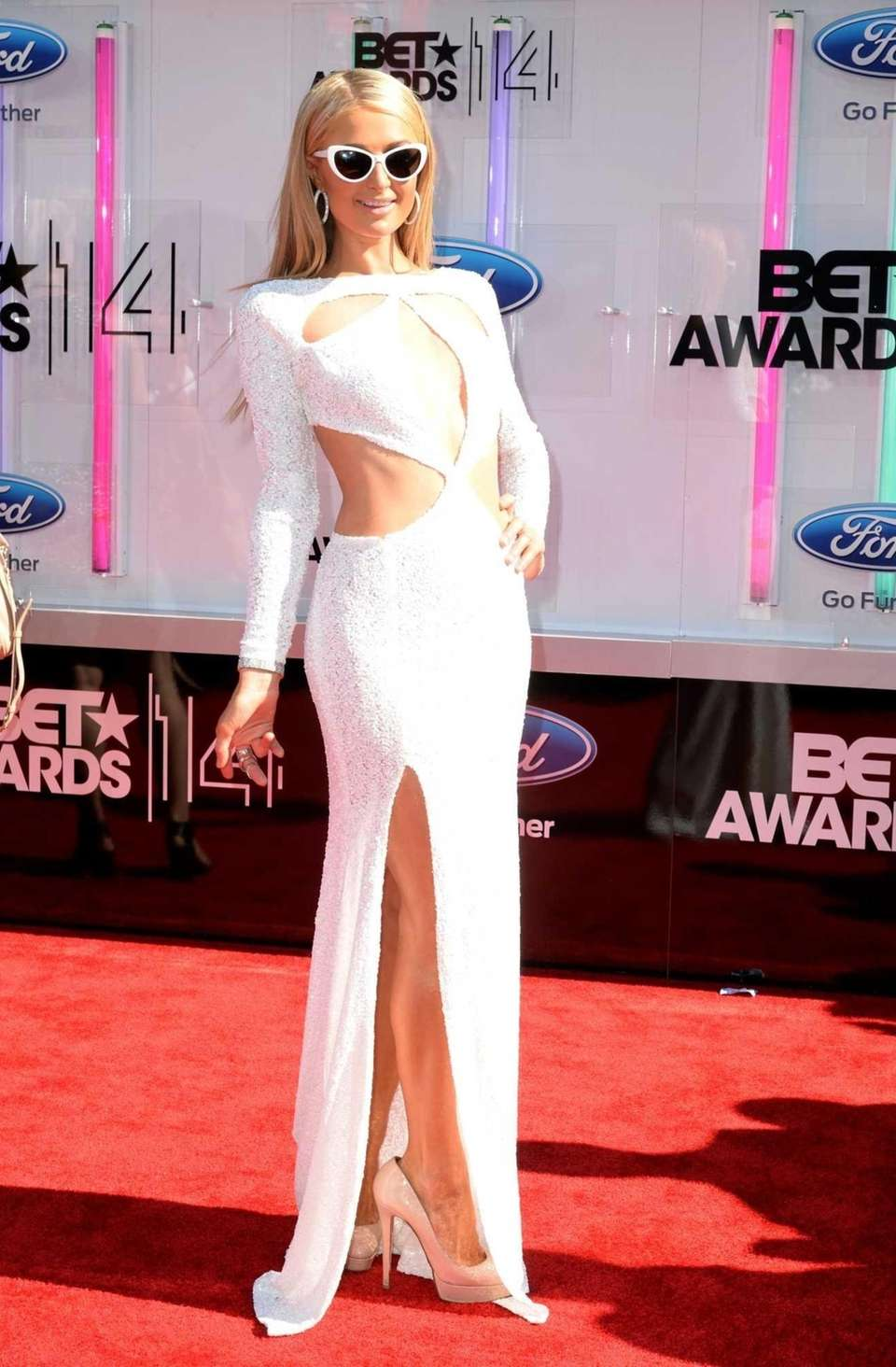 Paris Hilton attends the BET Awards at Nokia