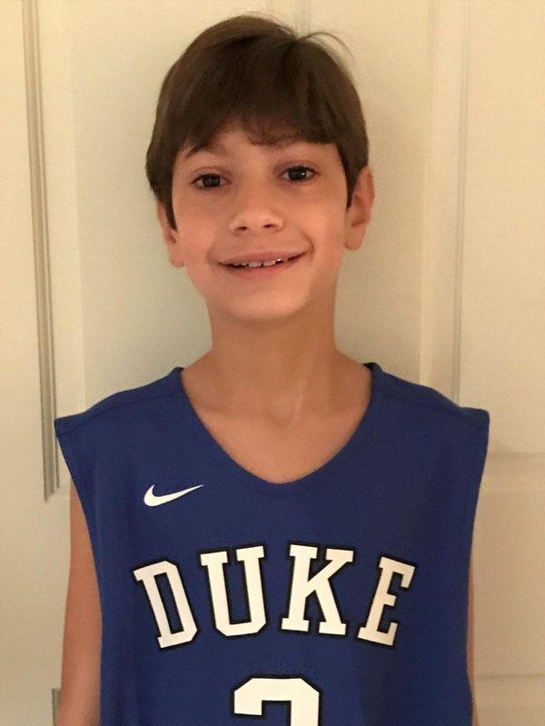Kidsday reporter Harrison Gansl shows his true (Blue