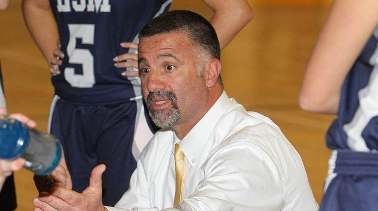 Steve Giacolone, the Eastport-South Manor girls basketball coach
