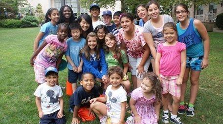 A group of kids having fun at Hofstra