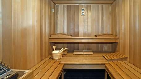 This is the sauna in the five-bedroom Patchogue