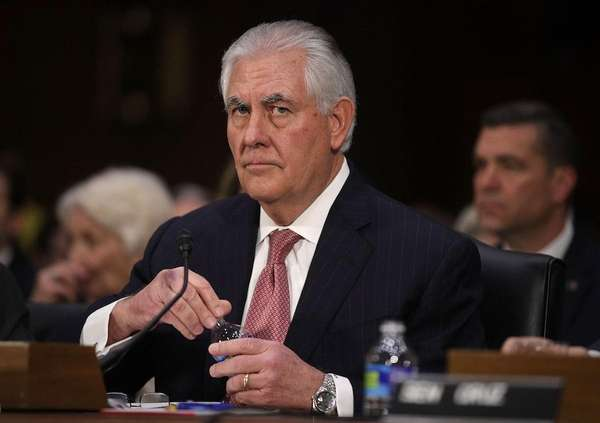 The Senate confirmed Rex Tillerson's nomination for secretary