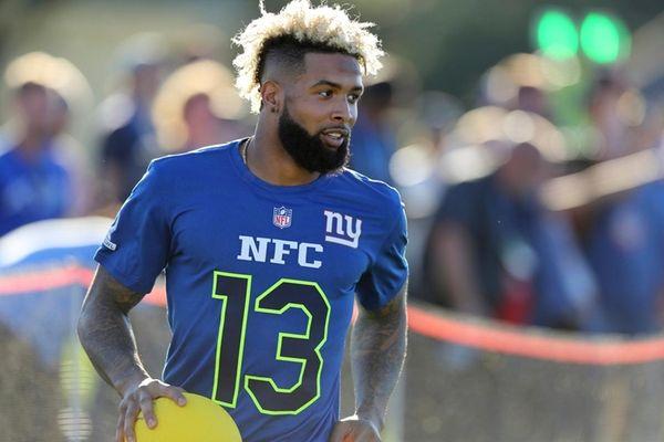 New York Giants Odell Beckham Jr. (13) competes