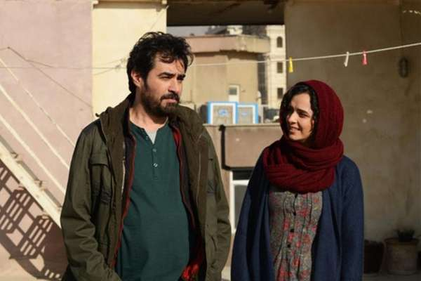 Shahab Hosseini, left, and Taraneh Alidoosti play a