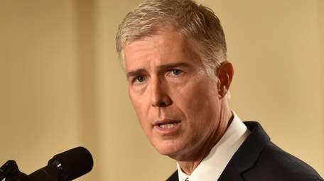 Judge Neil Gorsuch speaks at the White House