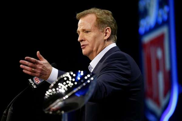 NFL commissioner Roger Goodell responds to questions