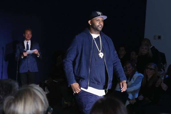 CC Sabathia walks the runway at the Inaugural
