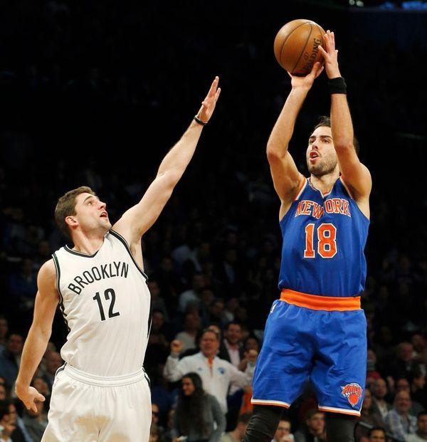 Sasha Vujacic #18 of the New York Knicks