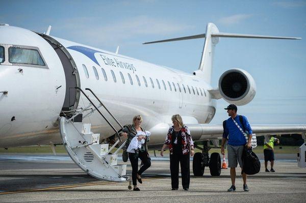 A proposed nonstop Elite Airways route between Long