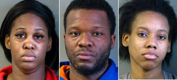 Crystal Sinclair, 26, Orlando Mosley, 28, and Dionne