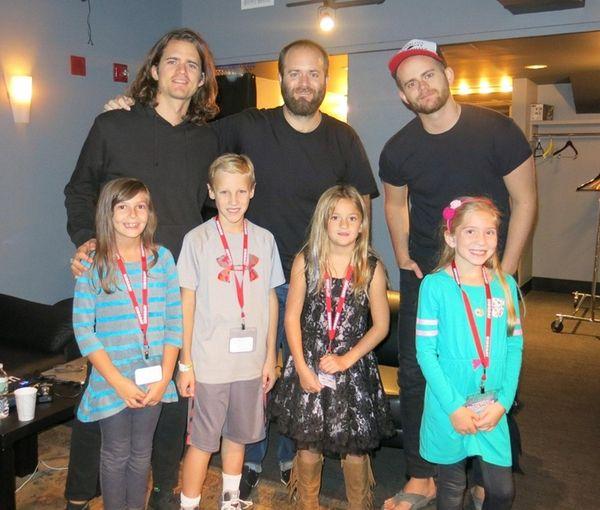 Kidsday reporters, from left, Sandra Netburn, Tyler Maggio,