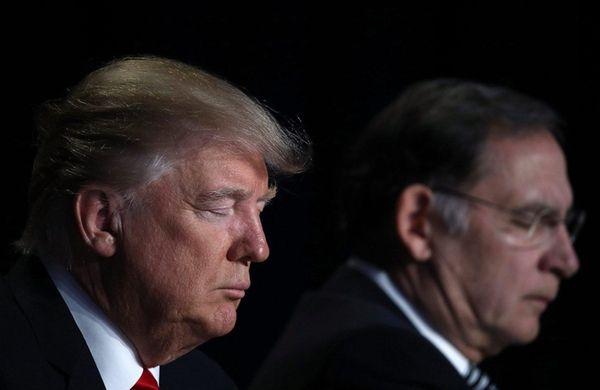 President Donald J. Trump attends the National Prayer
