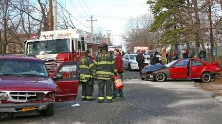 Suffolk County Police responded to a three-car accident