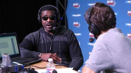 Former NFL player Michael Irvin visits the SiriusXM