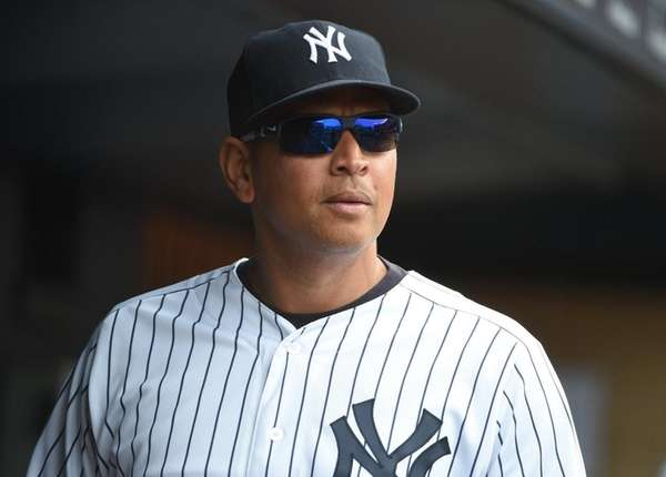 New York Yankees designated hitter Alex Rodriguez looks