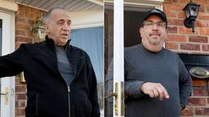 From left, Syosset neighbors Rick Cafiero and Scott