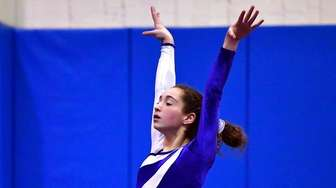 Allison Cohen of Long Beach competes in the
