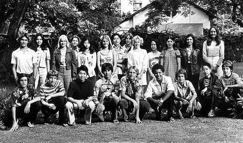 A 1976 photo shows Obama, in front row,