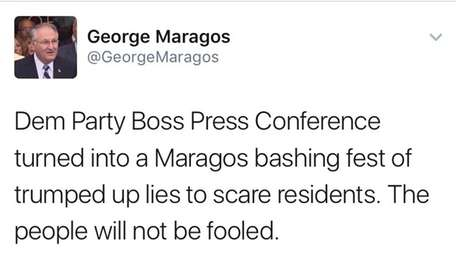 Nassau County Comptroller George Maragos, who is
