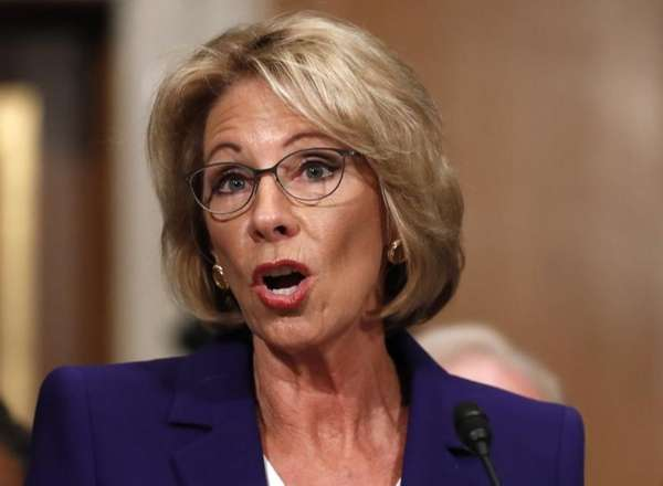 Education Secretary-designate Betsy DeVos testifies on Capitol Hill