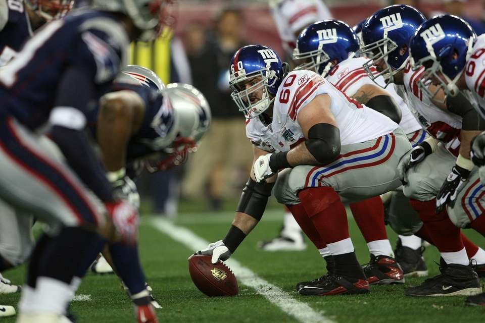 Center Shaun O'Hara of the New York Giants