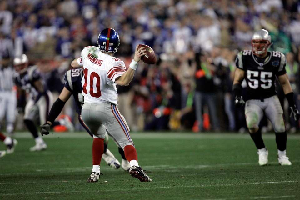 Eli Manning Super Bowl Throw