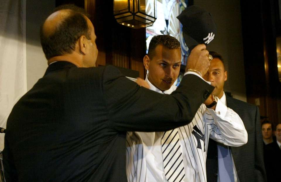 Alex Rodriguez is introduced as the new third