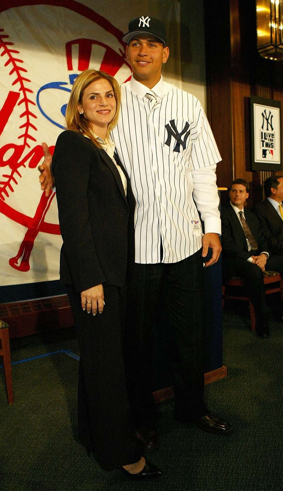Alex Rodriguez and his wife, Cynthia, at a
